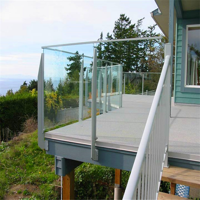 house-deck-Glass-railing-675x675 4 Simple Steps to Increase the Value of the House with Deck Railing Project Ideas