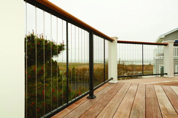 house-deck-Vertical-cables-675x450 4 Simple Steps to Increase the Value of the House with Deck Railing Project Ideas