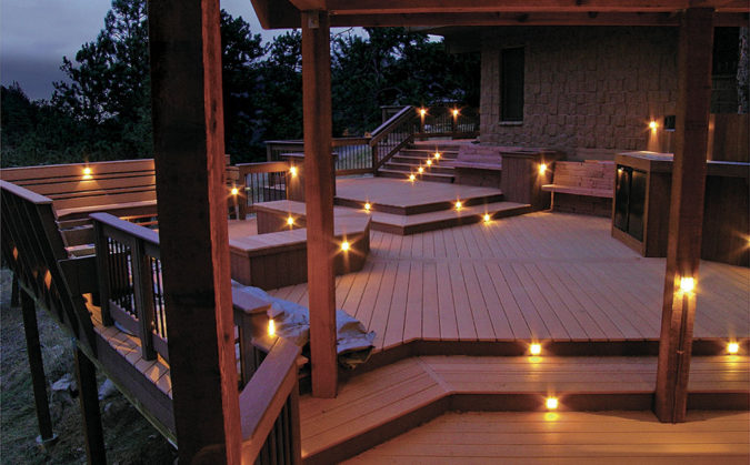 house-deck-lighting-2-675x419 4 Simple Steps to Increase the Value of the House with Deck Railing Project Ideas