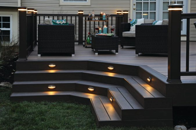 house-deck-lighting-675x449 4 Simple Steps to Increase the Value of the House with Deck Railing Project Ideas