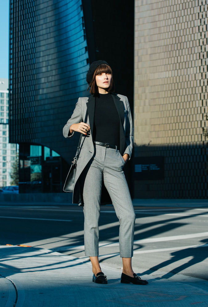 tweed-suit.-1-675x995 +45 Stylish Women's Outfits for Job Interviews for 2021