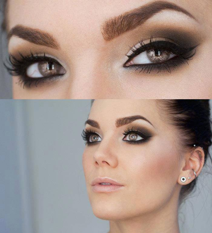 Basic-Smokey-Eyes-1 60+ Hottest Smokey Eye Makeup Looks in 2021