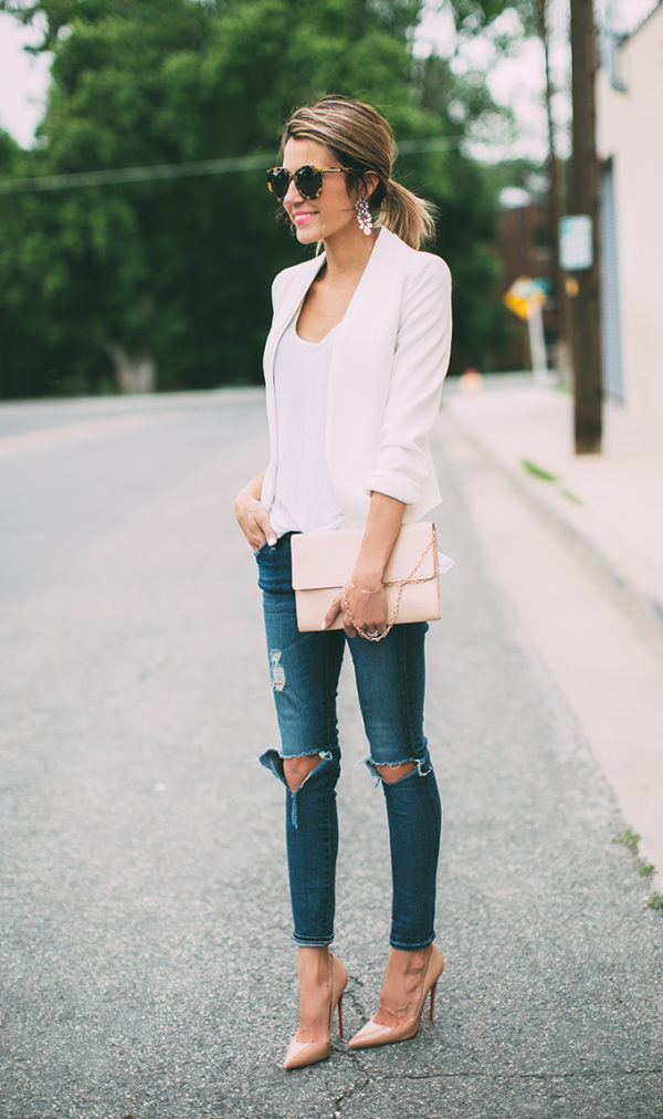 Blazer-and-Jeans-1 120+ Fashion Trends and Looks for College Students in 2020/2021