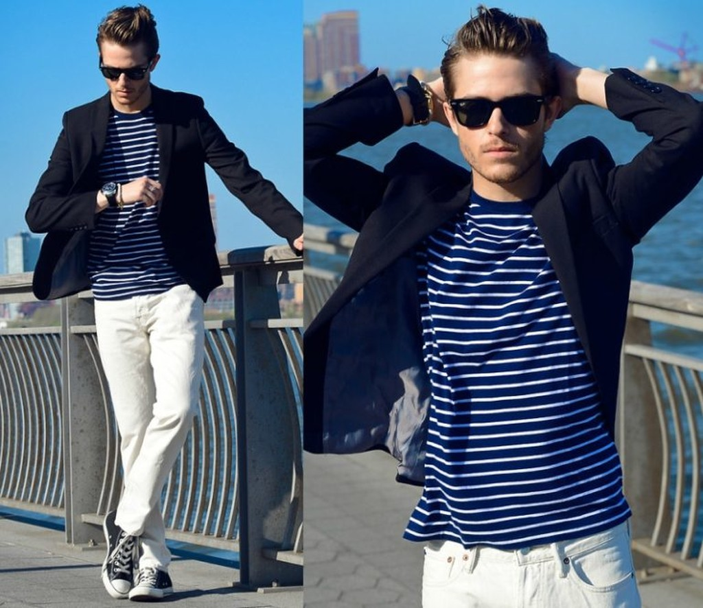 Blazer-and-T-shirt.-2 120+ Fashion Trends and Looks for College Students in 2021
