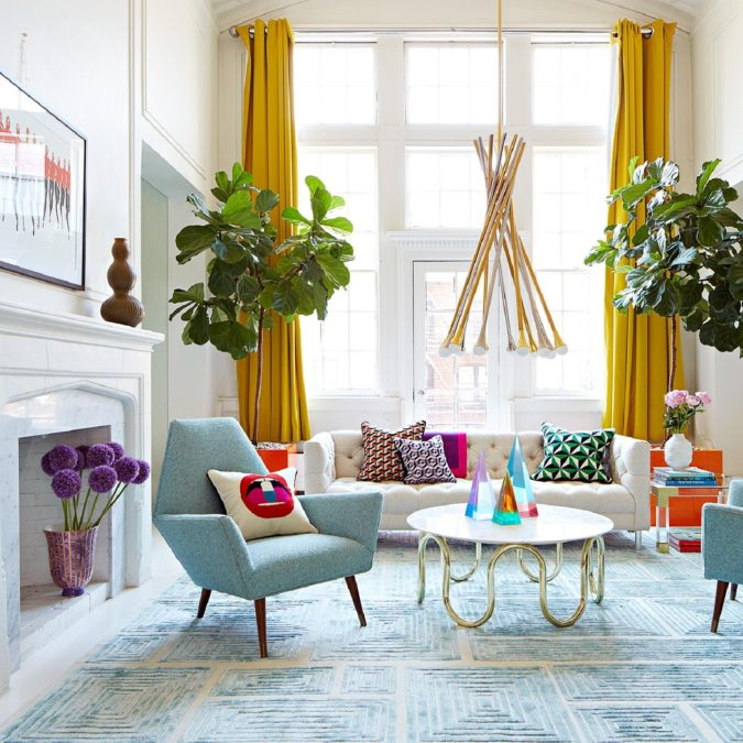 Bold-living-room-675x675 70+ Hottest Colorful Living Room Decorating Ideas in 2021