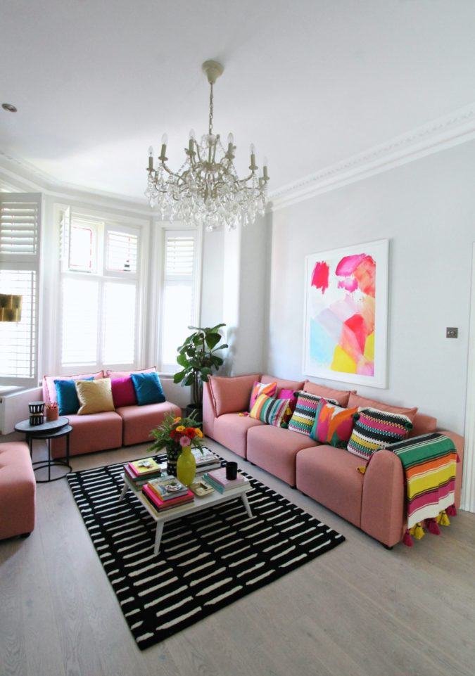 Bold-living-room.-675x961 70+ Hottest Colorful Living Room Decorating Ideas in 2021