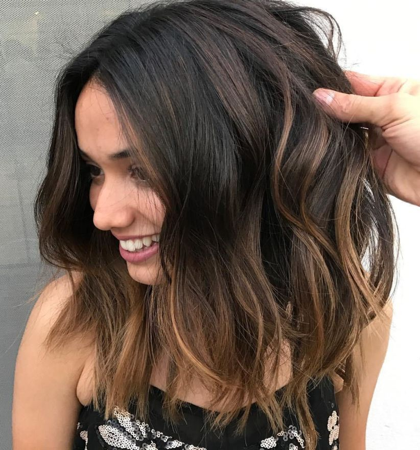 Brown-Blonde-Balayage-Lob. Top 10 Hair Color Trends for Blonde Women in 2021