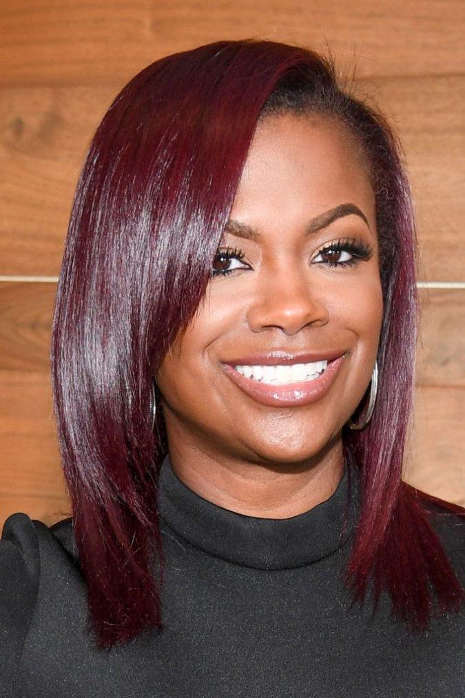 Burgundy..-675x1013 +35 Hottest Hair Color Trends for Dark-Skinned Women
