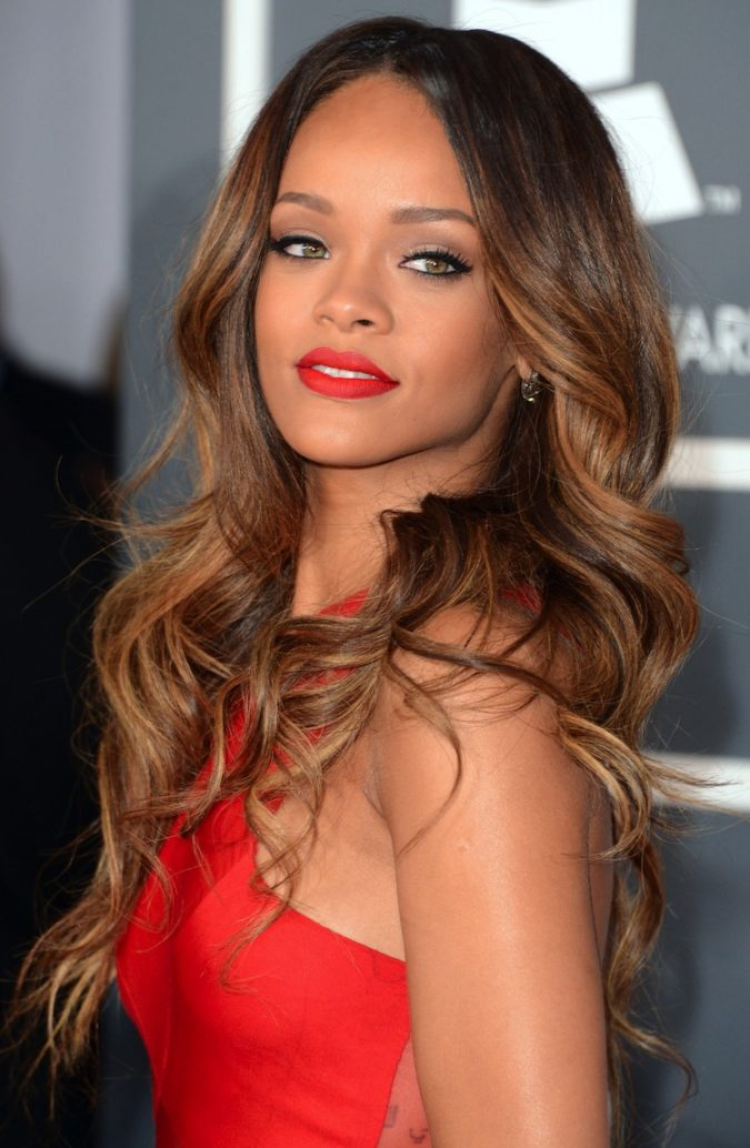 Caramel-Ombre-675x1034 +35 Hottest Hair Color Trends for Dark-Skinned Women