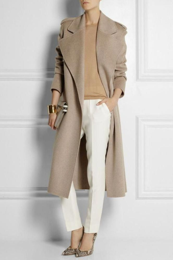 Cashmere-trench-coat-women-outfit Materials that Could Make the Biggest Impact on Fashion World
