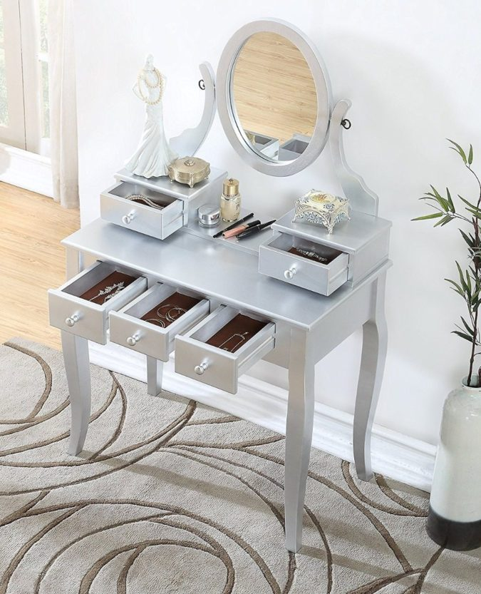 Conventional-vanity-table.-675x833 Hottest 50+ Stylish Makeup Vanity Ideas