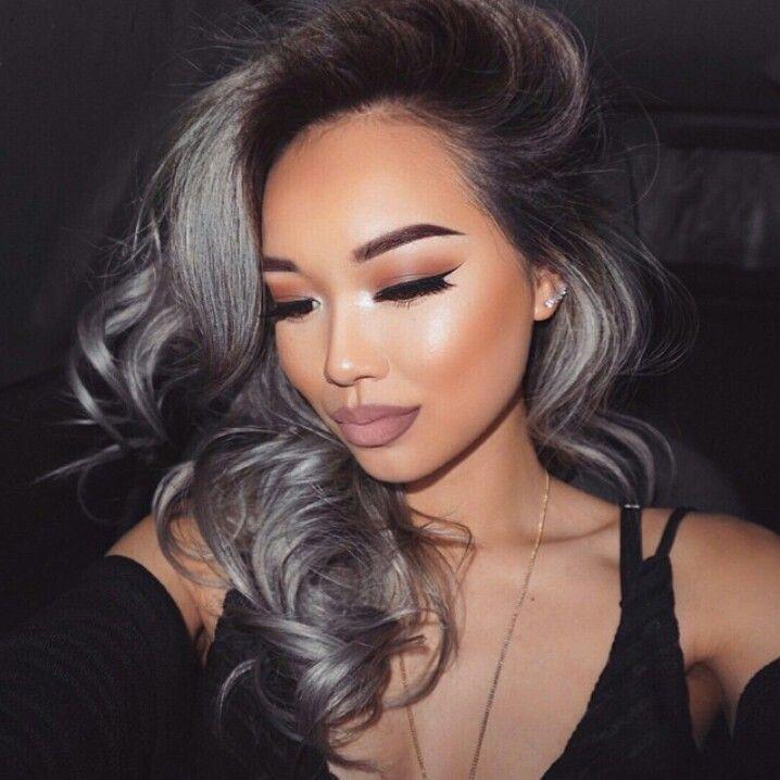Dark-grey-1 +35 Hottest Hair Color Trends for Dark-Skinned Women