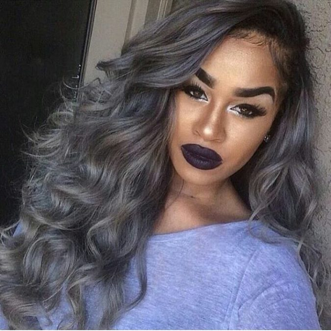 Dark-grey.-1-675x675 +35 Hottest Hair Color Trends for Dark-Skinned Women