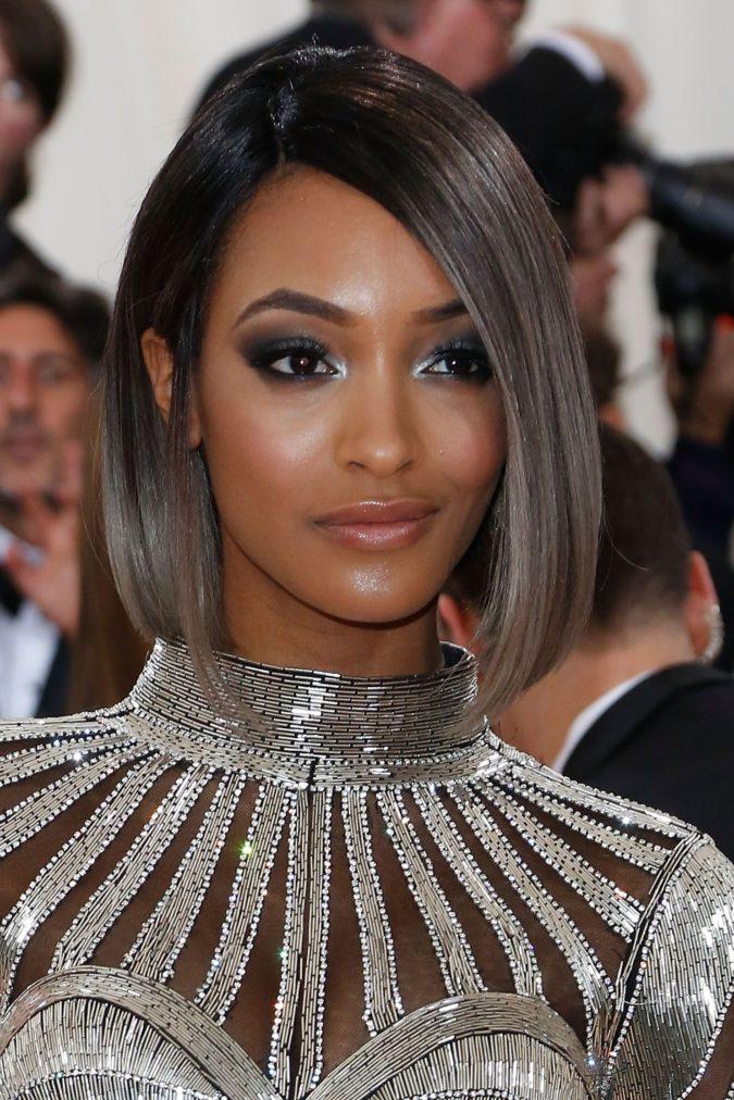 Dark-grey..-675x1012 +35 Hottest Hair Color Trends for Dark-Skinned Women