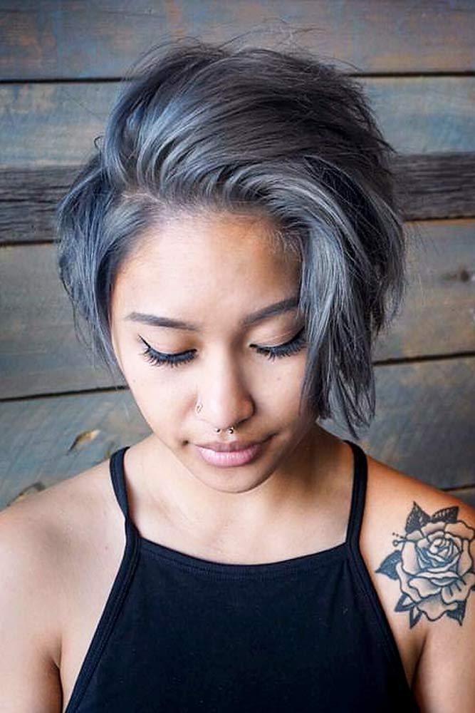 Dark-grey. +35 Hottest Hair Color Trends for Dark-Skinned Women