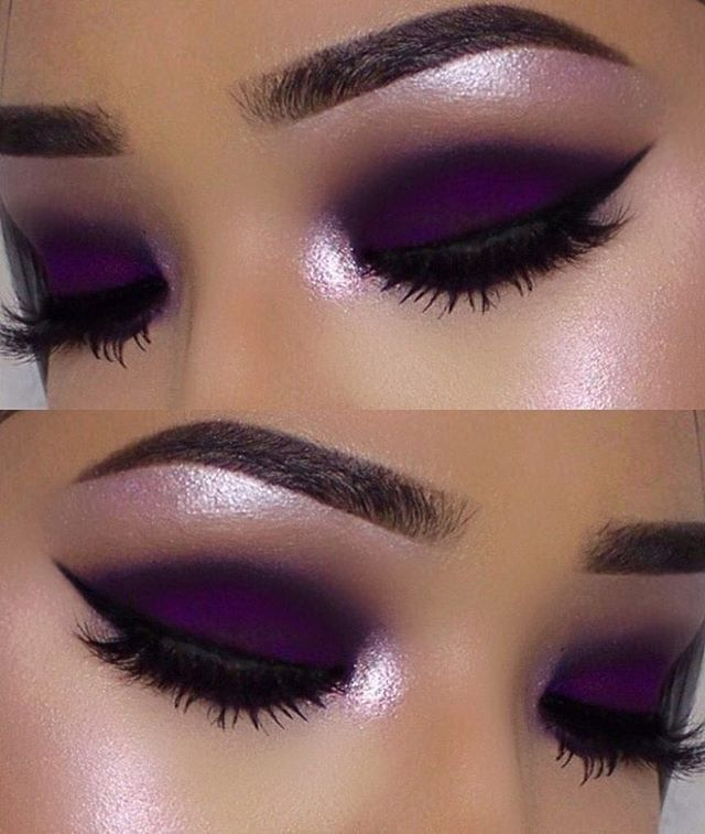 Dark-outlined-Purple-Color-Smokey-Eyes-2 60+ Hottest Smokey Eye Makeup Looks in 2020