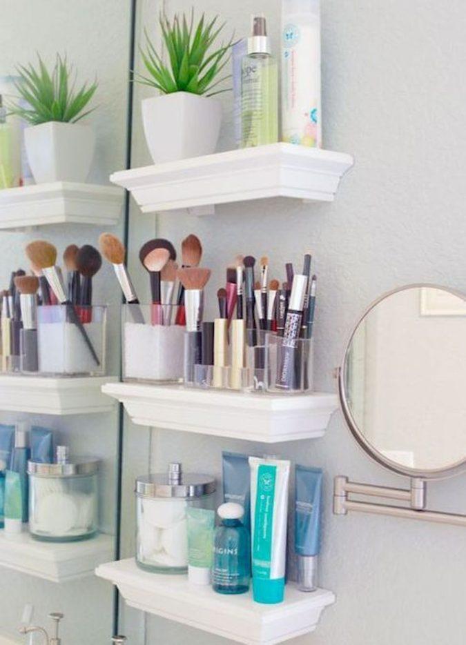 Floating-shelf-675x935 Hottest 50+ Stylish Makeup Vanity Ideas
