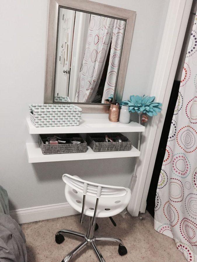 Floating-shelf-for-makeup-675x900 Hottest 50+ Stylish Makeup Vanity Ideas
