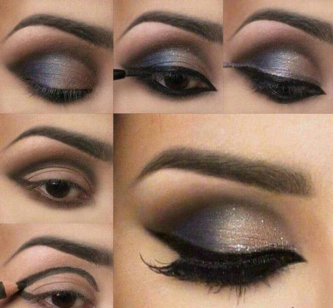 Gothic-Glamour-675x624 60+ Hottest Smokey Eye Makeup Looks in 2020