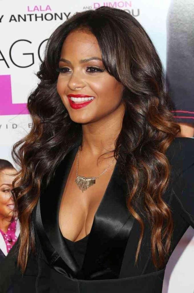 Honey-Brown-Highlights-3-675x1016 +35 Hottest Hair Color Trends for Dark-Skinned Women