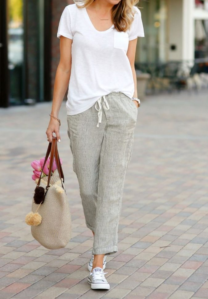 Linen-pants-women-outfit-675x968 Materials that Could Make the Biggest Impact on Fashion World