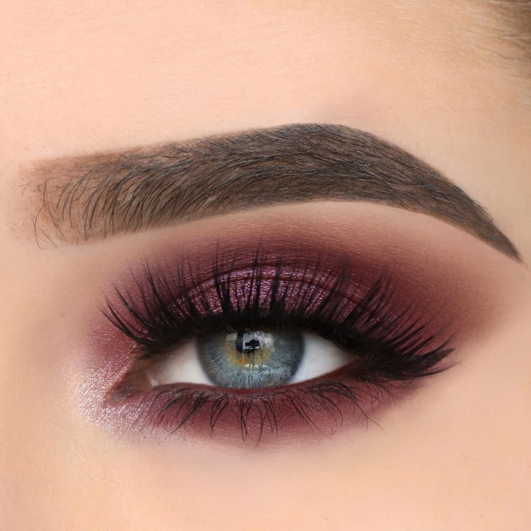 Mauve-Blend-With-Dramatic-Flick..-1 60+ Hottest Smokey Eye Makeup Looks in 2020
