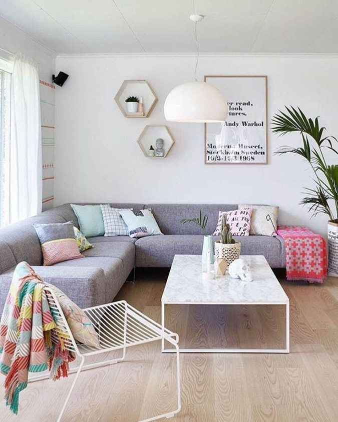 Minimal-living..-1-675x843 70+ Hottest Colorful Living Room Decorating Ideas in 2021