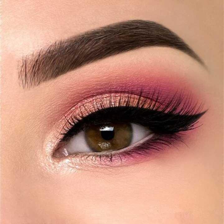 Pink-summertime-eye-makeup.. 60+ Hottest Smokey Eye Makeup Looks in 2021