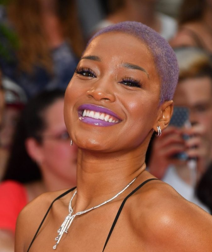 Purple-Highlights.-675x804 +35 Hottest Hair Color Trends for Dark-Skinned Women