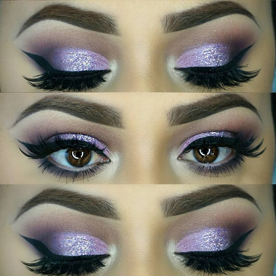 Purple-blended-with-Silver-3 60+ Hottest Smokey Eye Makeup Looks in 2021