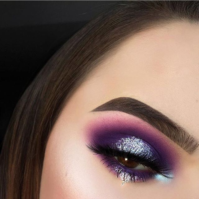 Purple-blended-with-Silver-5 60+ Hottest Smokey Eye Makeup Looks in 2020