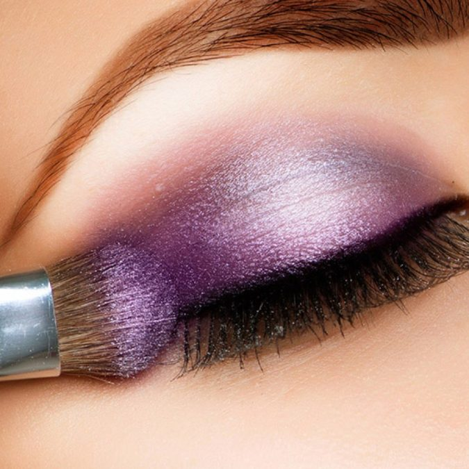 Purple-blended-with-Silver.-2-675x675 60+ Hottest Smokey Eye Makeup Looks in 2020