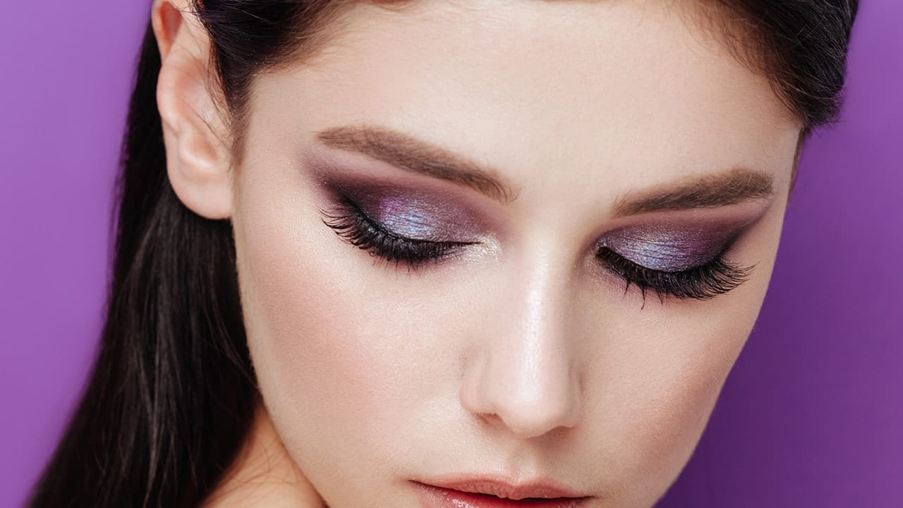 Purple-blended-with-Silver.. 60+ Hottest Smokey Eye Makeup Looks in 2020