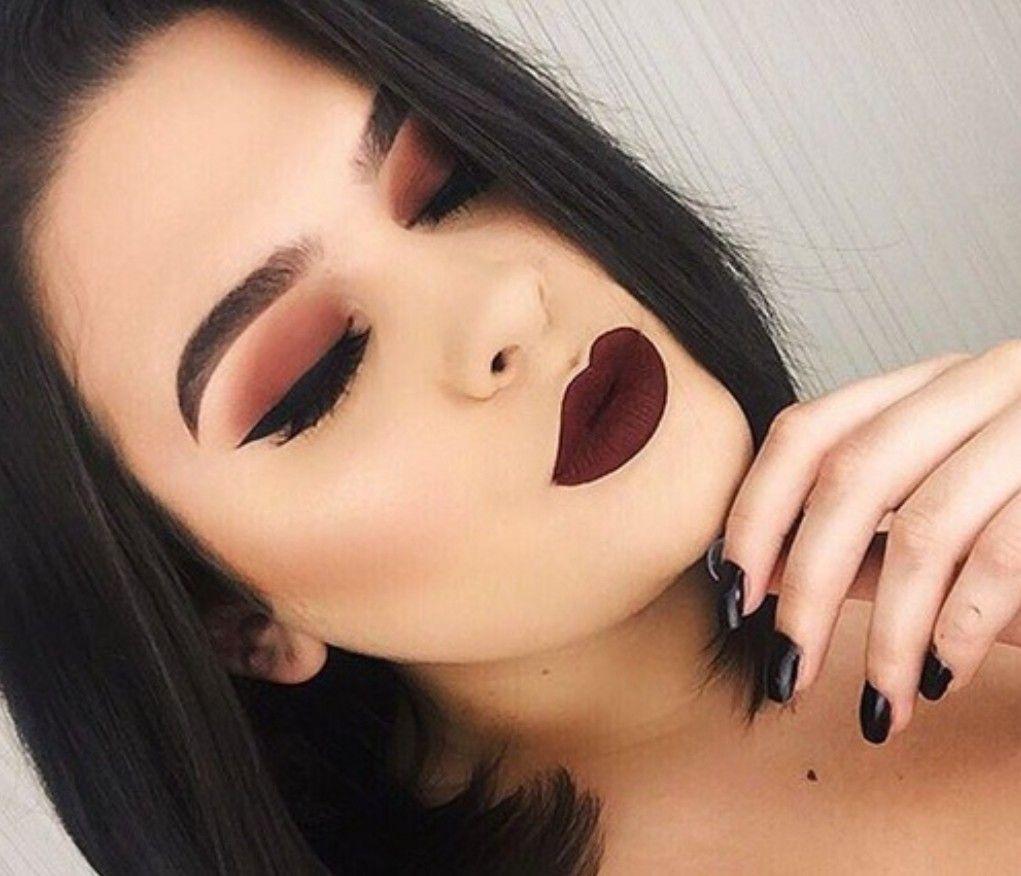 Red-brownish-smokey-eye-makeup-2 60+ Hottest Smokey Eye Makeup Looks in 2020