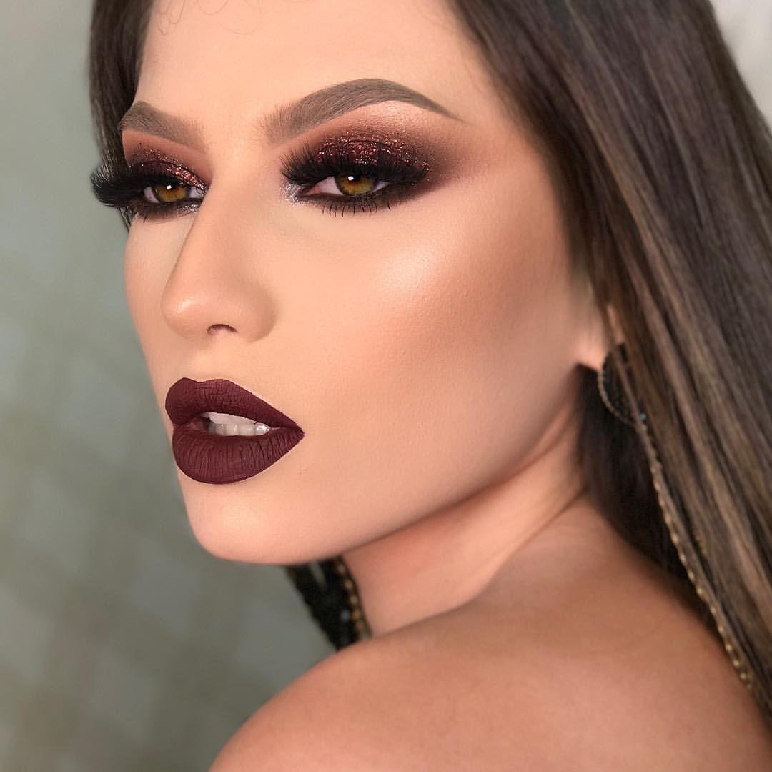 Red-brownish-smokey-eye-makeup-3 60+ Hottest Smokey Eye Makeup Looks in 2021