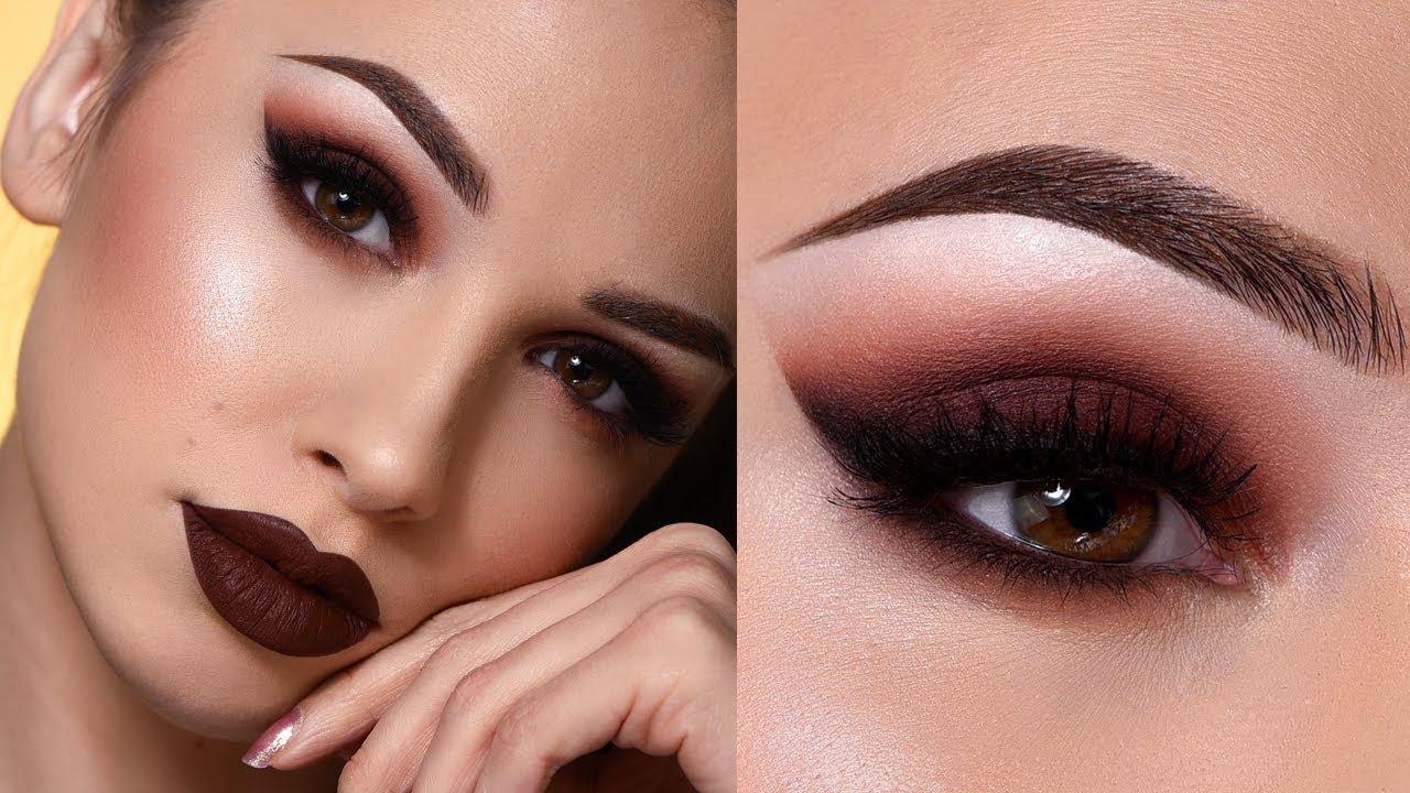 Red-brownish-smokey-eye-makeup.-2 60+ Hottest Smokey Eye Makeup Looks in 2020