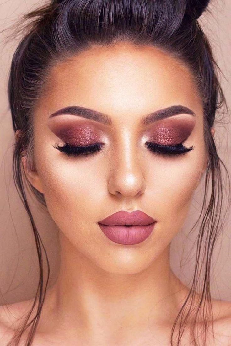 Red-brownish-smokey-eye-makeup..-1 60+ Hottest Smokey Eye Makeup Looks in 2021