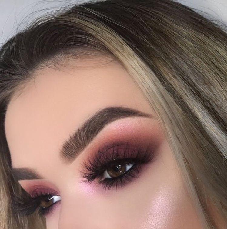 Red-brownish-smokey-eye-makeup. 60+ Hottest Smokey Eye Makeup Looks in 2021
