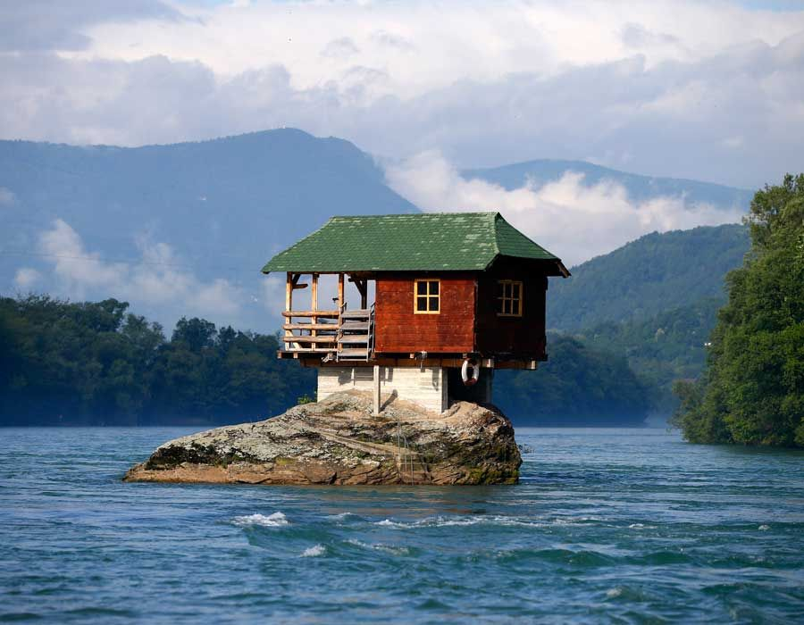 River-house. Top 25 Strangest Houses around the World