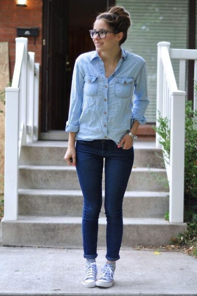 Simple-look..-675x1016 120+ Fashion Trends and Looks for College Students in 2021
