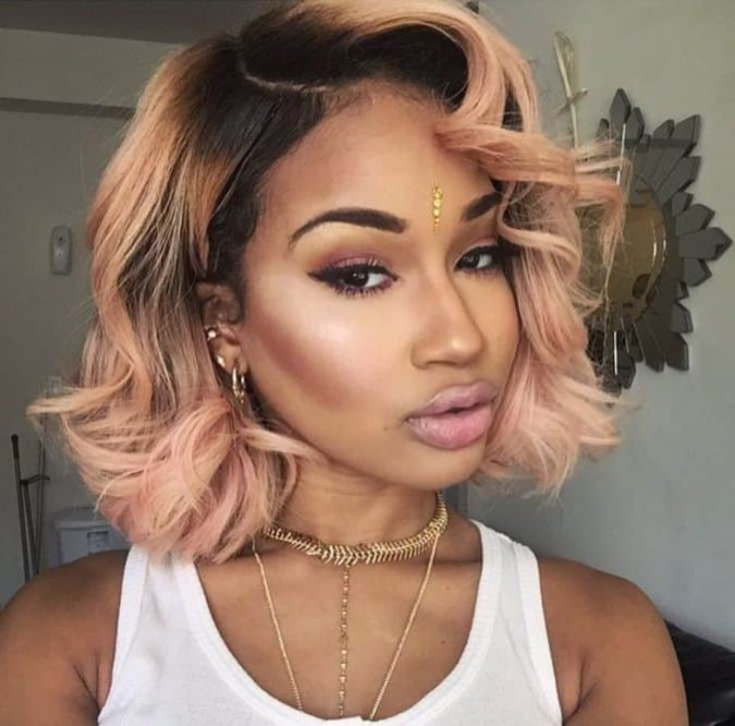 Strawberry-Blonde.-675x666 +35 Hottest Hair Color Trends for Dark-Skinned Women