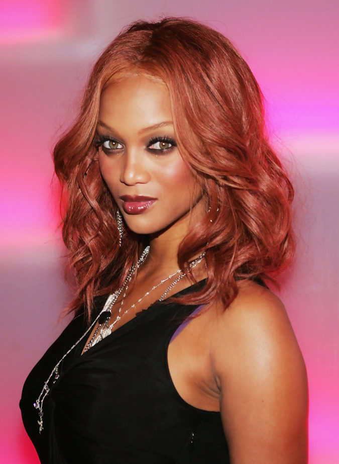 Strawberry-Blonde..-675x923 +35 Hottest Hair Color Trends for Dark-Skinned Women