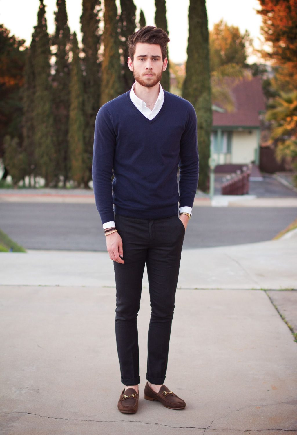 Sweater-and-long-sleeve-button-down-2-1024x1499 120+ Fashion Trends and Looks for College Students in 2020/2021