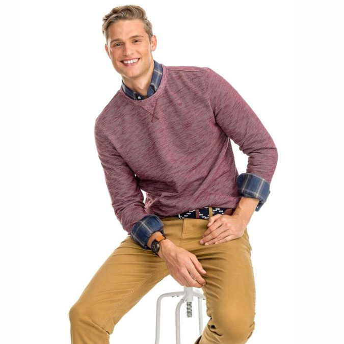 Sweater-and-long-sleeve-button-down-675x675 120+ Fashion Trends and Looks for College Students in 2021