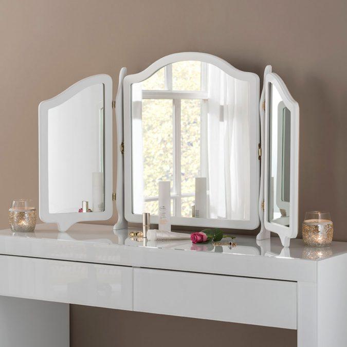 Three-mirror-vanity-1-675x675 Hottest 50+ Stylish Makeup Vanity Ideas