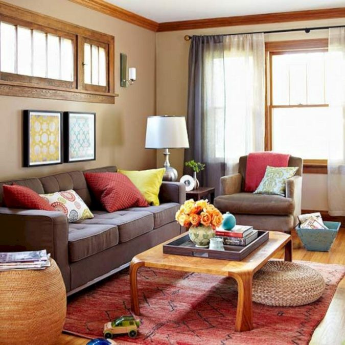 Vibrant-trim-living-room.-1-675x675 70+ Hottest Colorful Living Room Decorating Ideas in 2021