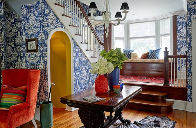 Vibrant-trim.-675x443 70+ Hottest Colorful Living Room Decorating Ideas in 2021