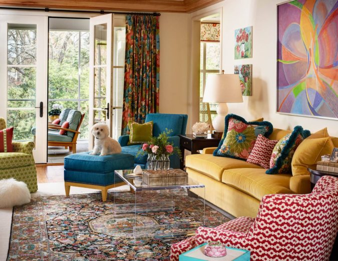 Vibrant-trim..-2-675x522 70+ Hottest Colorful Living Room Decorating Ideas in 2021