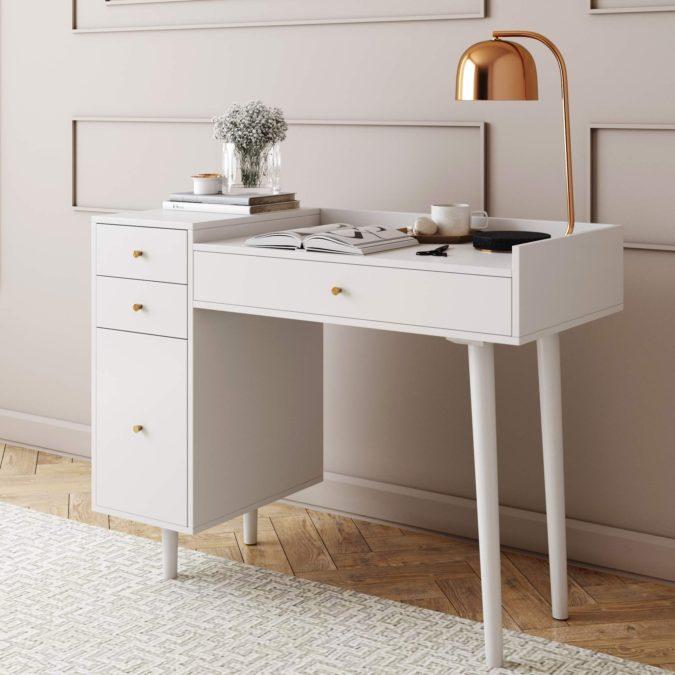 Workspace-desk-.-2-675x675 Hottest 50+ Stylish Makeup Vanity Ideas