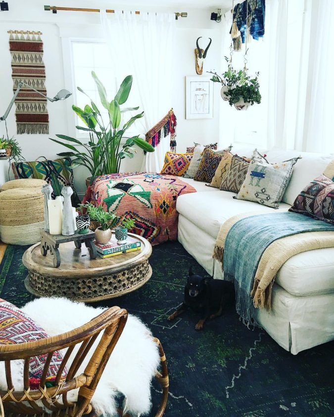 bohemian-living-room-1-675x843 70+ Hottest Colorful Living Room Decorating Ideas in 2021